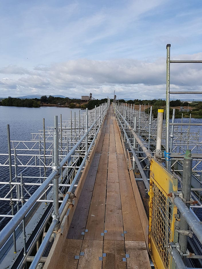 Houtman in Final Stages of Removing Scaffolding at 'Toome Weir' Image